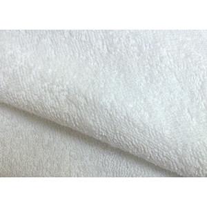 Tissu éponge unie blanche