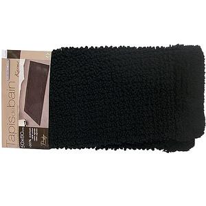 Tapis de bain noir modèle KARMA 50x80cm 100% coton