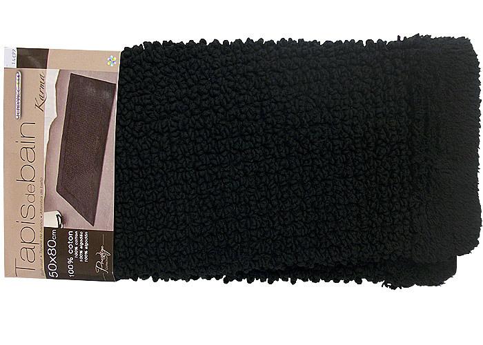 tapis de bain ou tapis de douche noir mod le karma 50x80cm. Black Bedroom Furniture Sets. Home Design Ideas