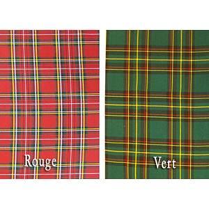 Tissu kilt écossais polyester et viscose