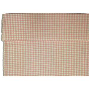 Tissu Vichy rose grands carreaux