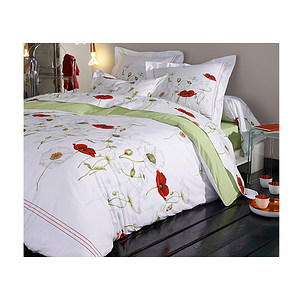 parure housse de couette seduction percale de coton pour lit 2 places de 140 cm ebay. Black Bedroom Furniture Sets. Home Design Ideas