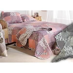 Couvre lit Boutis ZOE patchwork romantique