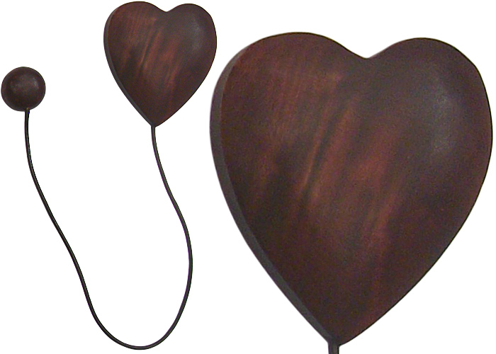 embrasse aimant e coeur cordon cuir embrasse pas cher. Black Bedroom Furniture Sets. Home Design Ideas