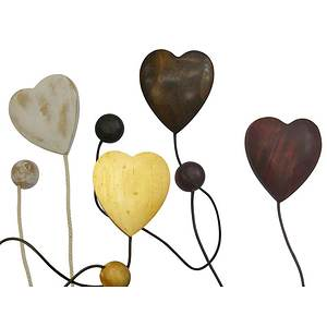 Embrasse aimantée Coeur cordon cuir