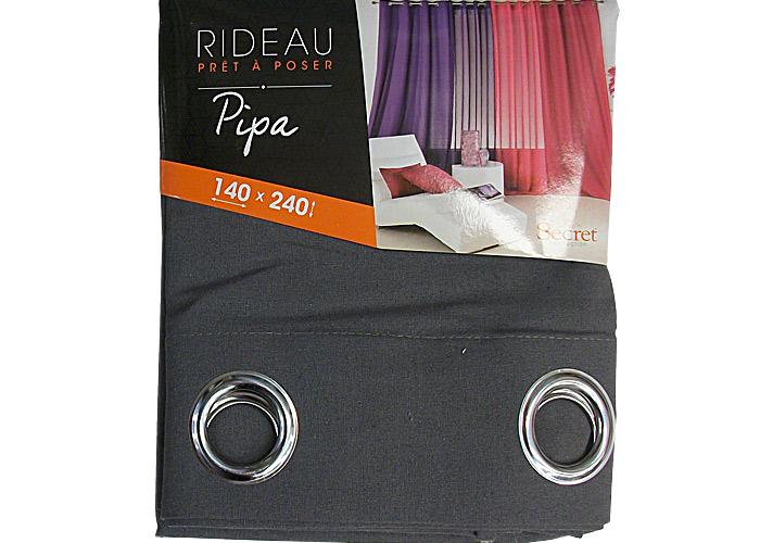 rideau pas cher pipa largeur 140cm x hauteur 240cm pr t poser ebay. Black Bedroom Furniture Sets. Home Design Ideas