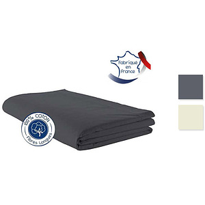 Drap Plat coton uni TRADILINGE pour lit de 90 cm ou 120 cm