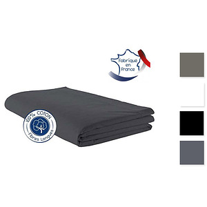 Drap Plat coton uni TRADILINGE pour lit de 140 cm