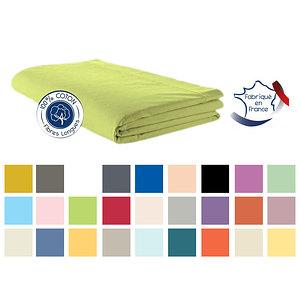 Drap Plat coton uni TRADILINGE pour lit de 160 cm