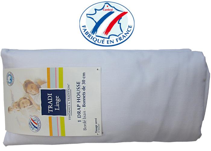 Drap housse 100x200 cm drap housse coton uni blanc for Drap housse 100x200