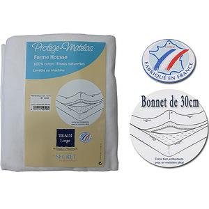 Protège matelas forme housse - Housse de matelas molletonnée