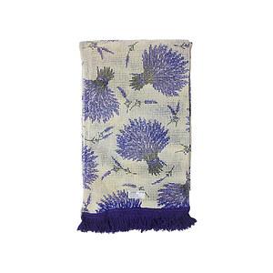 Rideau de porte Marseillais imprimé lavande
