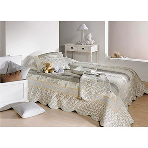 plaid boutis marylou 150x150 gris plaid boutis proven al. Black Bedroom Furniture Sets. Home Design Ideas