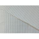 Tissu coton blanc nid d'abeille
