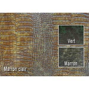 Tissu simili cuir alligator