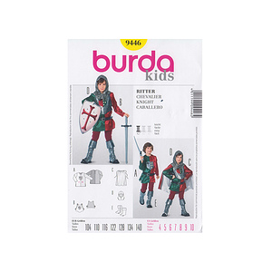 Patron enfant costume Chevalier - Patron Burda 9446