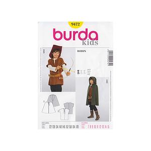 patron enfant burda 9472 pour costume de robin des bois. Black Bedroom Furniture Sets. Home Design Ideas