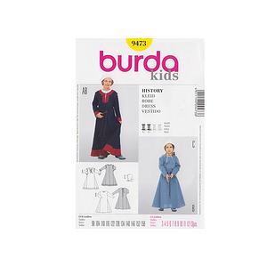 Patron enfant robe paysanne - Patron Burda 9473