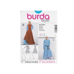 Patron robe historique moyen âge - Patron Burda 7977