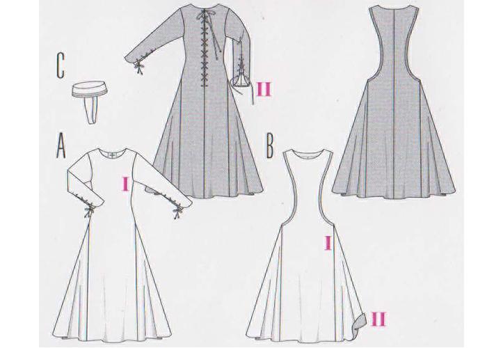 patron couture robe historique