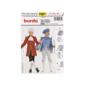 Patron burda costume de prince & de Mozart - Patron Burda 2461
