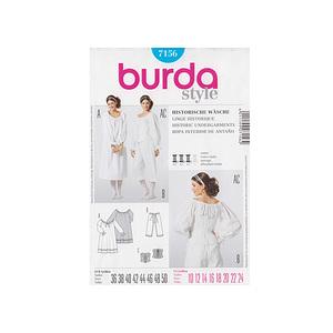 Patron burda sous vêtements du Moyen Age - Patron Burda 7156