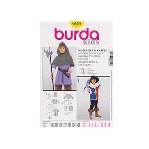 patron enfant burda 9659 pour costume gar on ecuyer et mousquetaire ebay. Black Bedroom Furniture Sets. Home Design Ideas