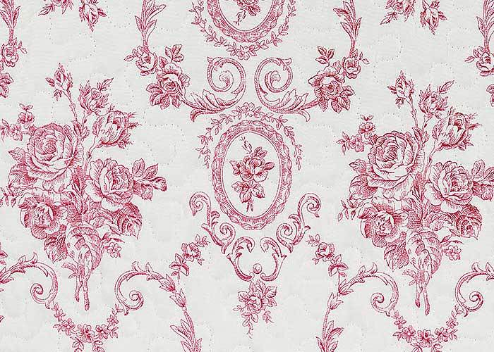 chambre toile de jouy rose. Black Bedroom Furniture Sets. Home Design Ideas
