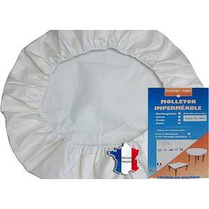 Protège table ronde forme housse en molleton imperméable