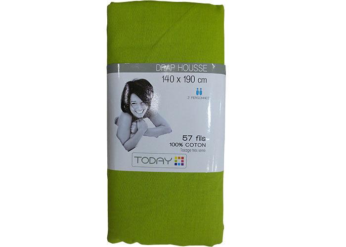 drap housse 1er prix 100 coton 140x190cm drap housse pas cher. Black Bedroom Furniture Sets. Home Design Ideas