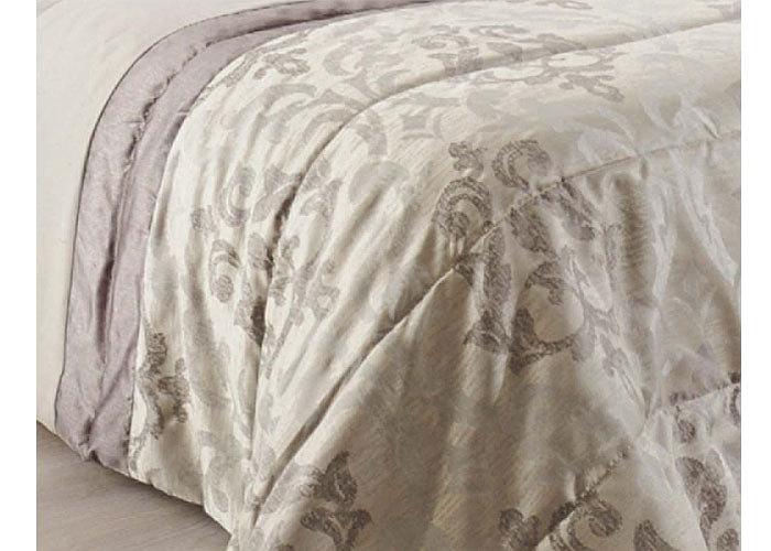 couvre lit baroque satin couvre lit lampas gris jet. Black Bedroom Furniture Sets. Home Design Ideas