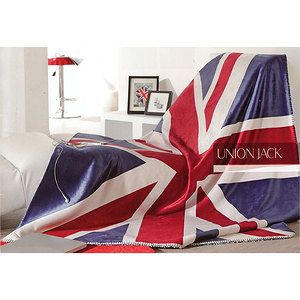 plaid drapeau anglais union jack plaid polyester 130x150 cm ebay. Black Bedroom Furniture Sets. Home Design Ideas