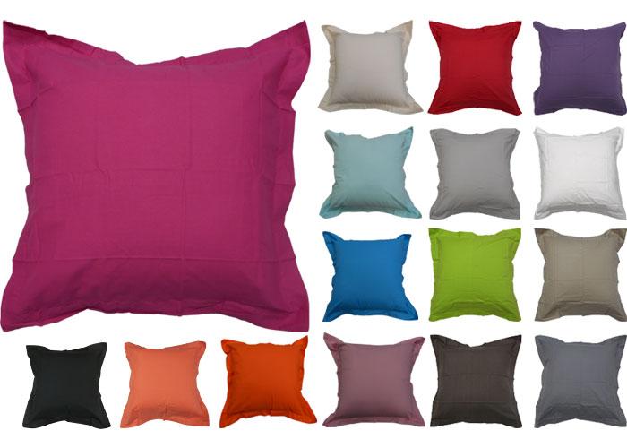 prix oreiller Taie d'oreiller carrée coton uni 57 fils 1er prix   Taie d  prix oreiller
