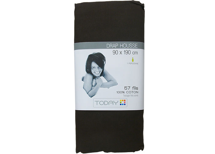 drap housse 1er prix 100 coton 90x190 drap housse 1 place pas cher. Black Bedroom Furniture Sets. Home Design Ideas