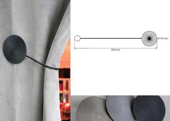 embrasse magn tique ronde m tallique cordon cuir embrasse aimant e pour rideau. Black Bedroom Furniture Sets. Home Design Ideas