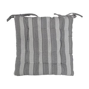 Galette de chaise ALPHONSINE Grise 40x40 cm
