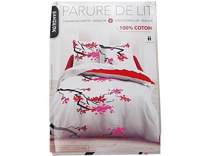 housse de couette imprim fleurs coton c ladon rouge kimono 3 pictures to pin on pinterest. Black Bedroom Furniture Sets. Home Design Ideas