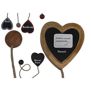 Embrasse coeur bois aimantée personnalisable