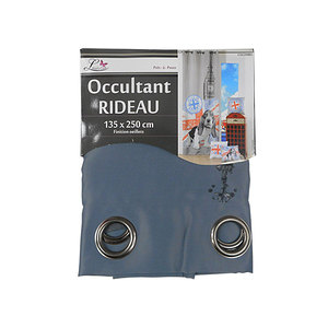 Rideau occultant colombo motif london & chien