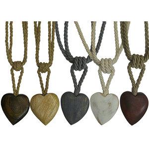 Embrasse rideau forme coeur en bois