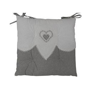 Galette de chaise grise VERONE coeur
