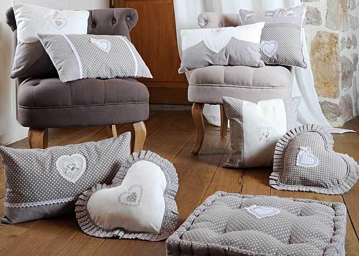 Galette de chaise grise verone love coussin de chaise for Galette de chaise avec rabat