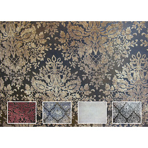 Tissu simili cuir baroque