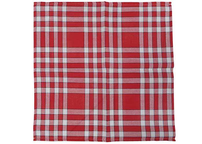 Serviette De Table Normande 45x45 Cm Vichy Rouge Et Blanc