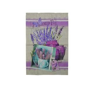 Torchon Print bouquet de lavande