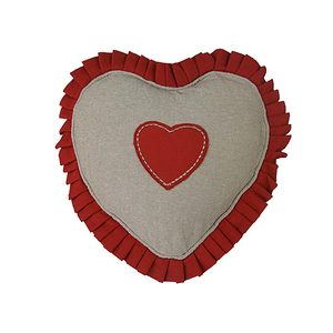Coussin déhoussable forme coeur Joliesse Rouge