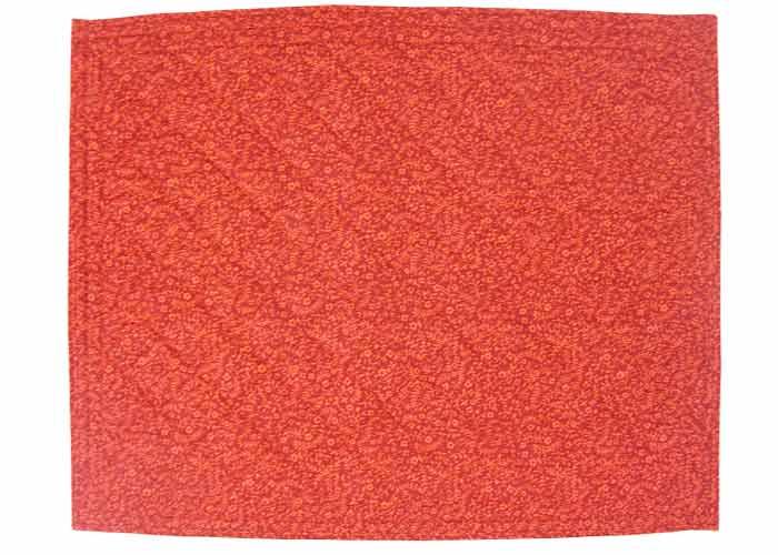 Set de table 45x35 tissu rouge imprim fleuri - Set de table en tissu ...