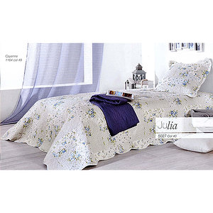 plaid boutis fleurs bleues julia plaid bleu plaid julia plaid pas cher. Black Bedroom Furniture Sets. Home Design Ideas