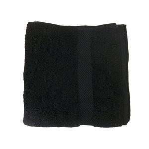 Serviette éponge noire 50x100 cm 1er Prix