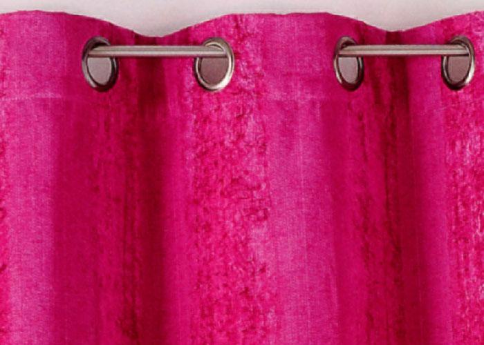 Rideau sri lanka rose 135x260 rideau polyester rideau pr ts poser rideau pas cher for Double rideau rose
